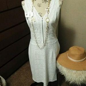 White light weight summer dress